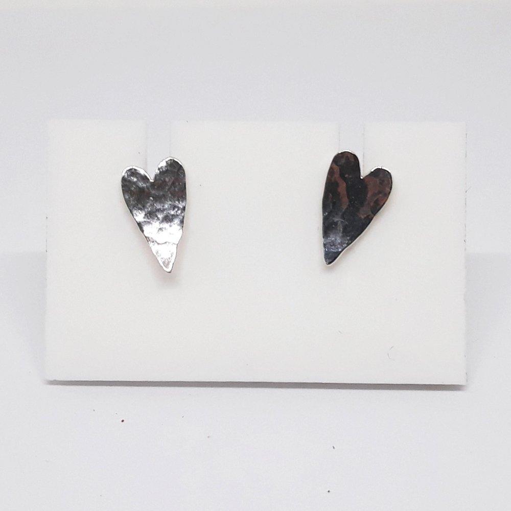 Heart Studs - £36