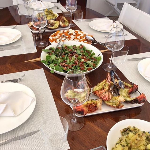 Lunch is served aboard The Cornelia. I bet everyone wishes they could take @chefdevhogan home with them! We know we do!!! #lunch #luxurytravel #yachtlife