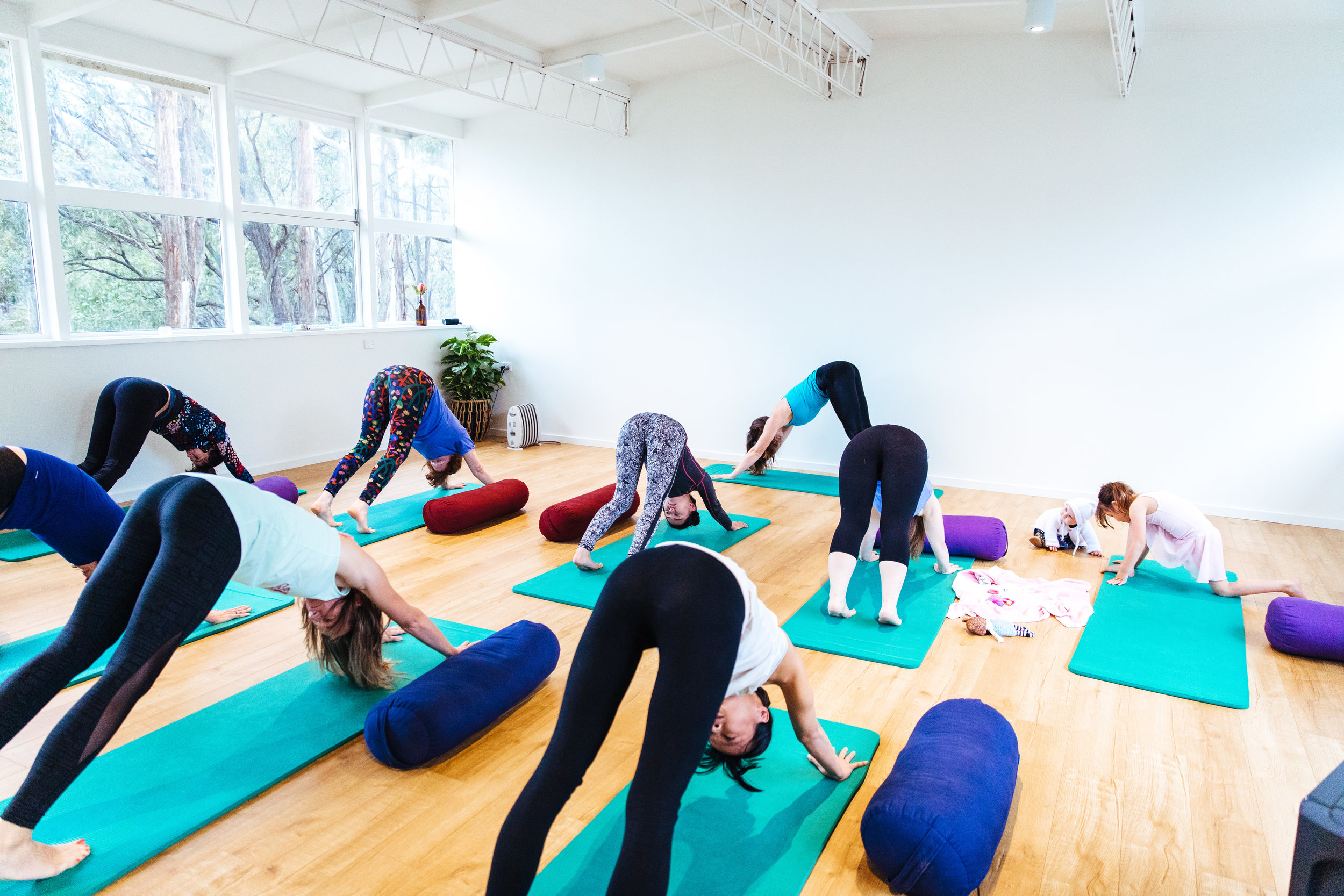 Woodend Yoga class