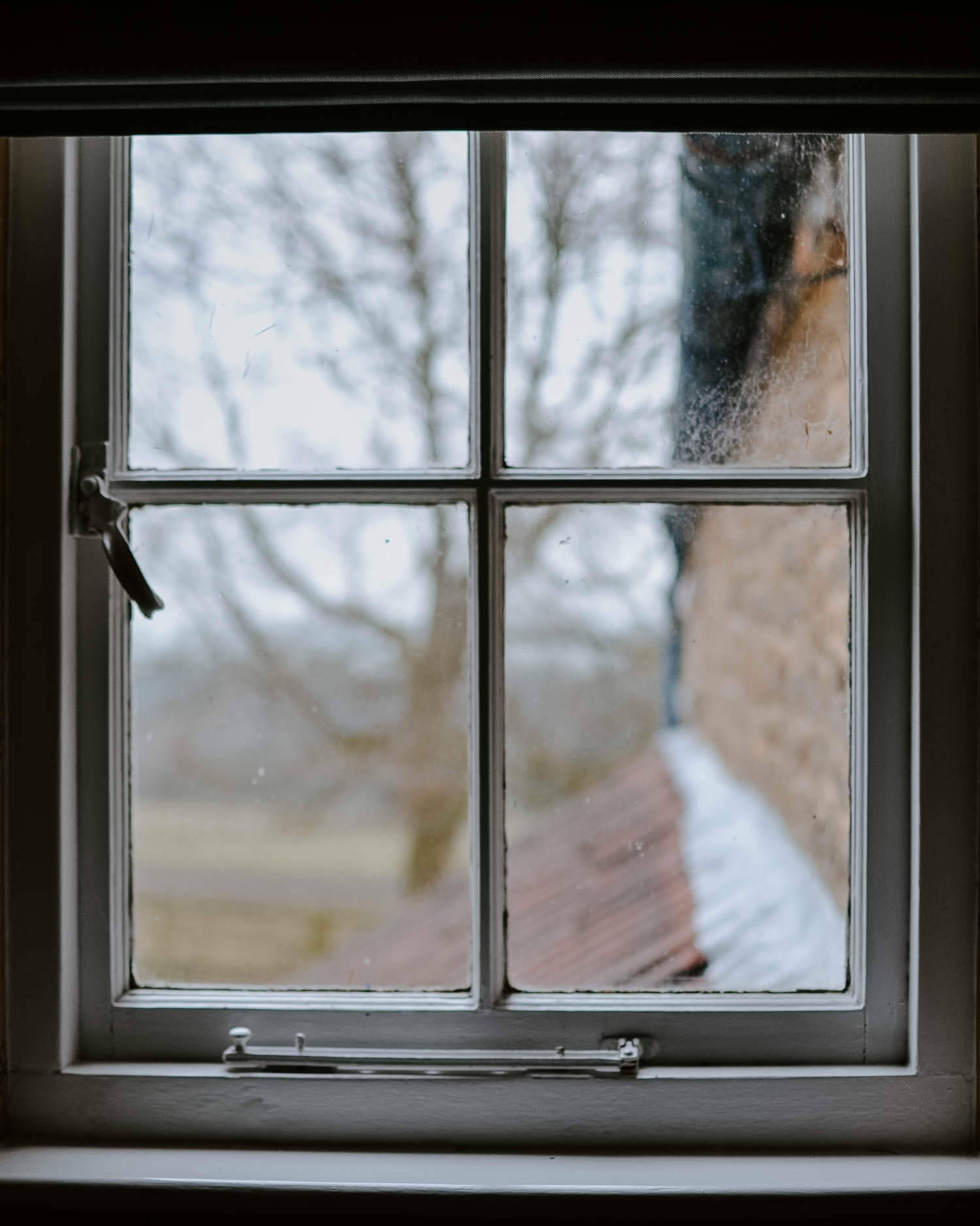 Picture of a window taken in January when I was just starting to pivot my business