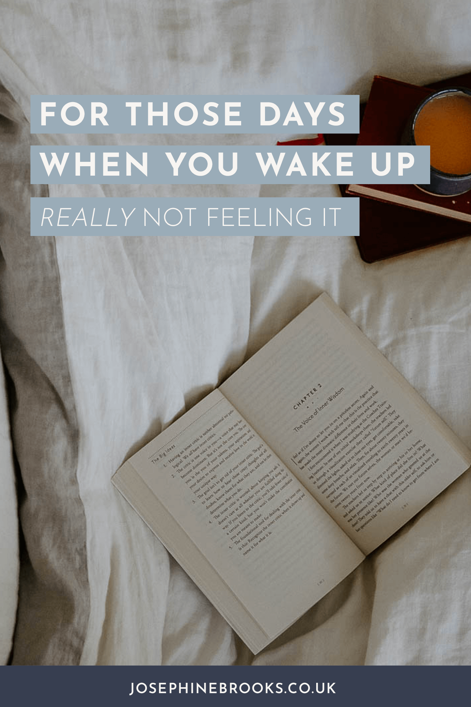 For those days when you wake up really not feeling it - how to change your plan
