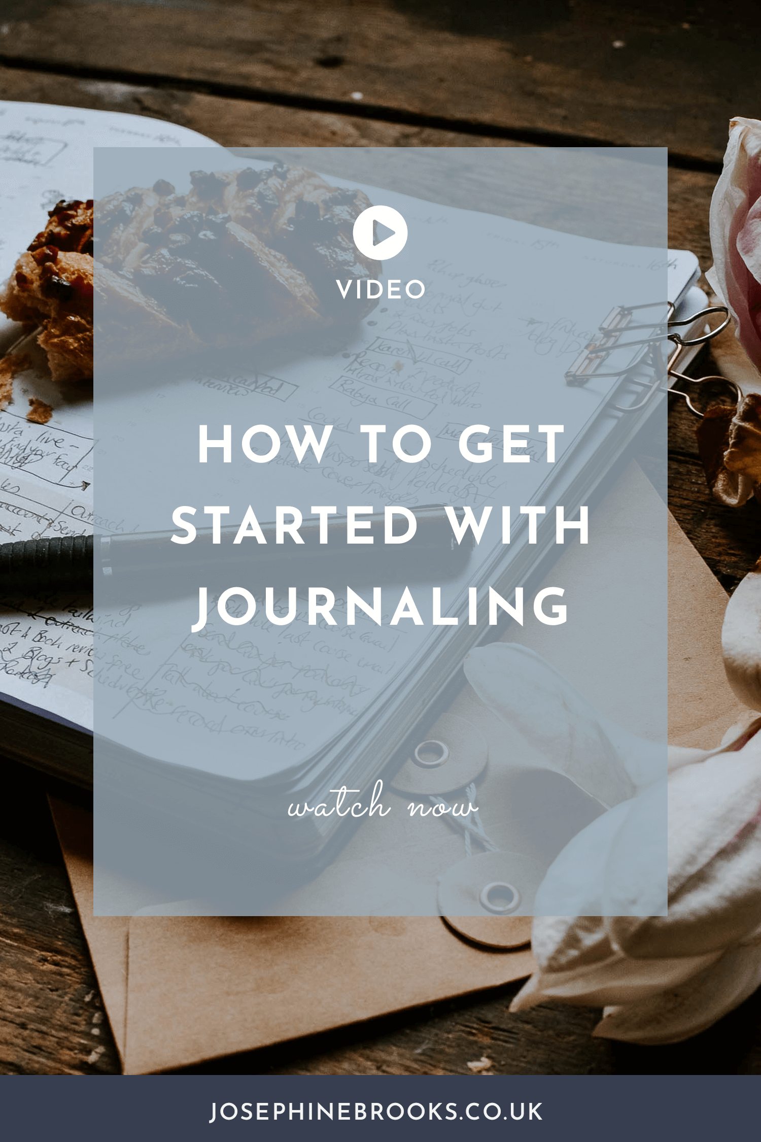 How to get started with journaling to help your side-hustle flourish | Journaling for business video | Josephine Brooks