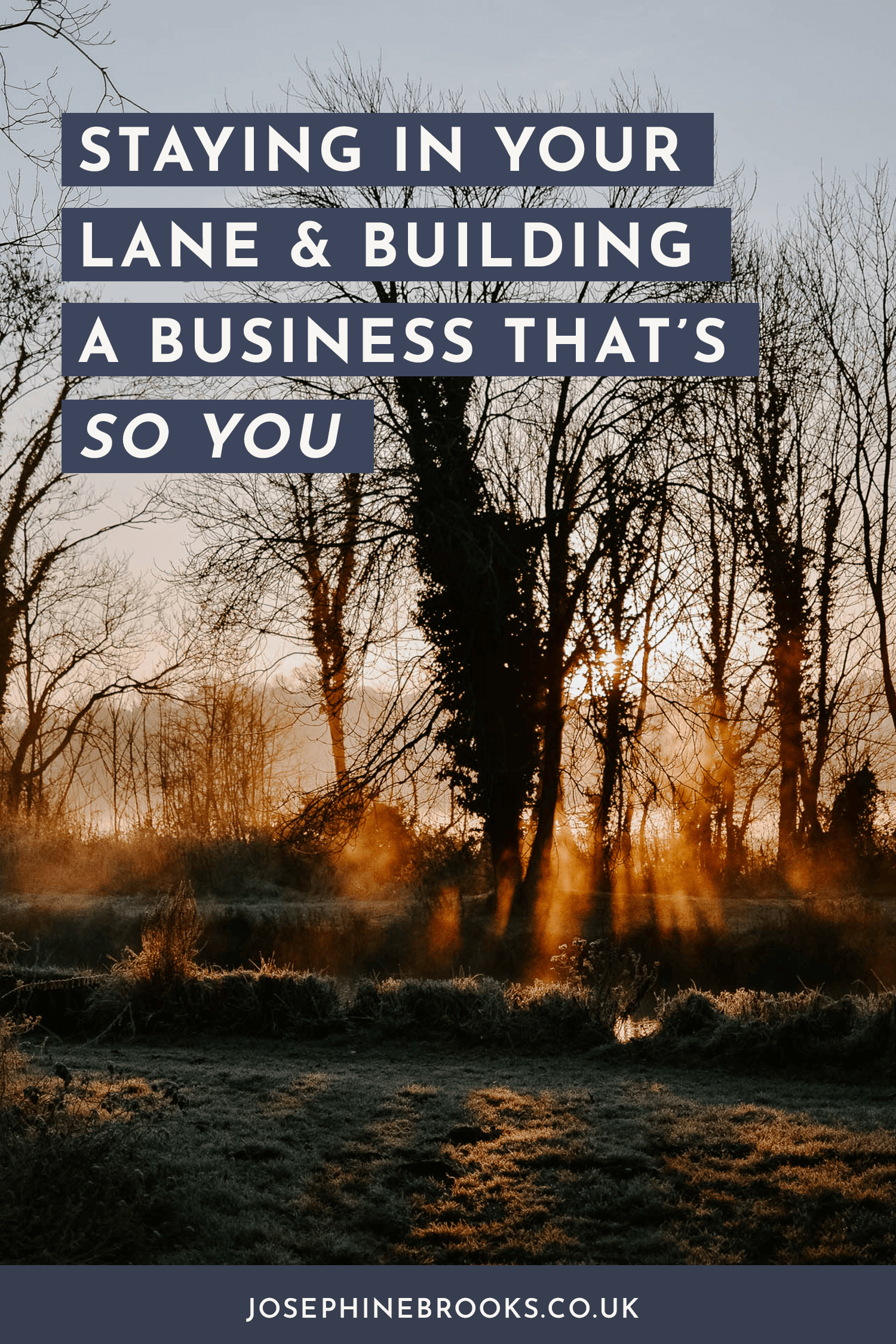 Staying In Your Lane & Building A Business That's So YOU | Josephine Brooks