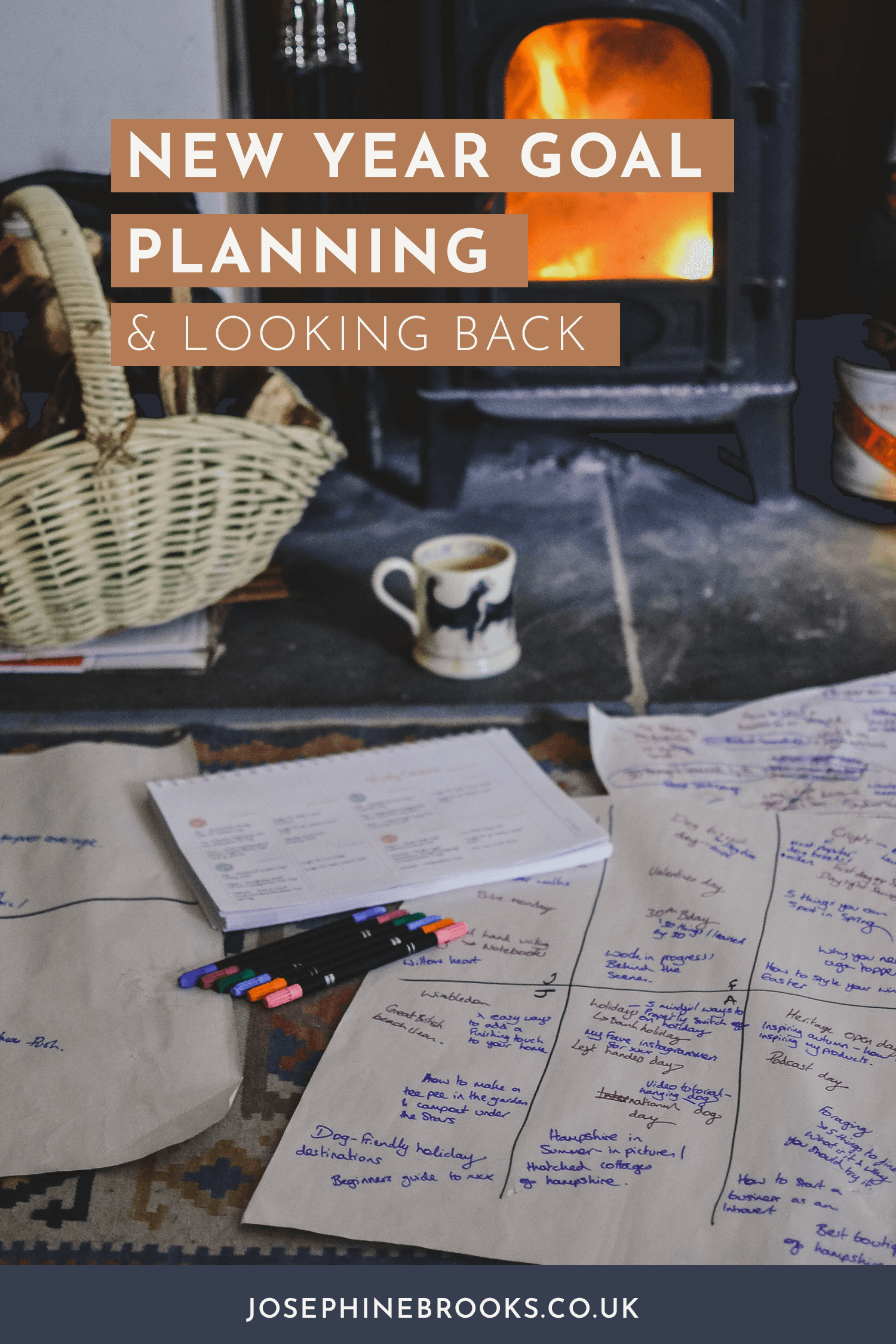 New Year Goal Setting for your Side-Hustle, Reviewing the year for your side-business, planning for the year ahead | Josephine Brooks