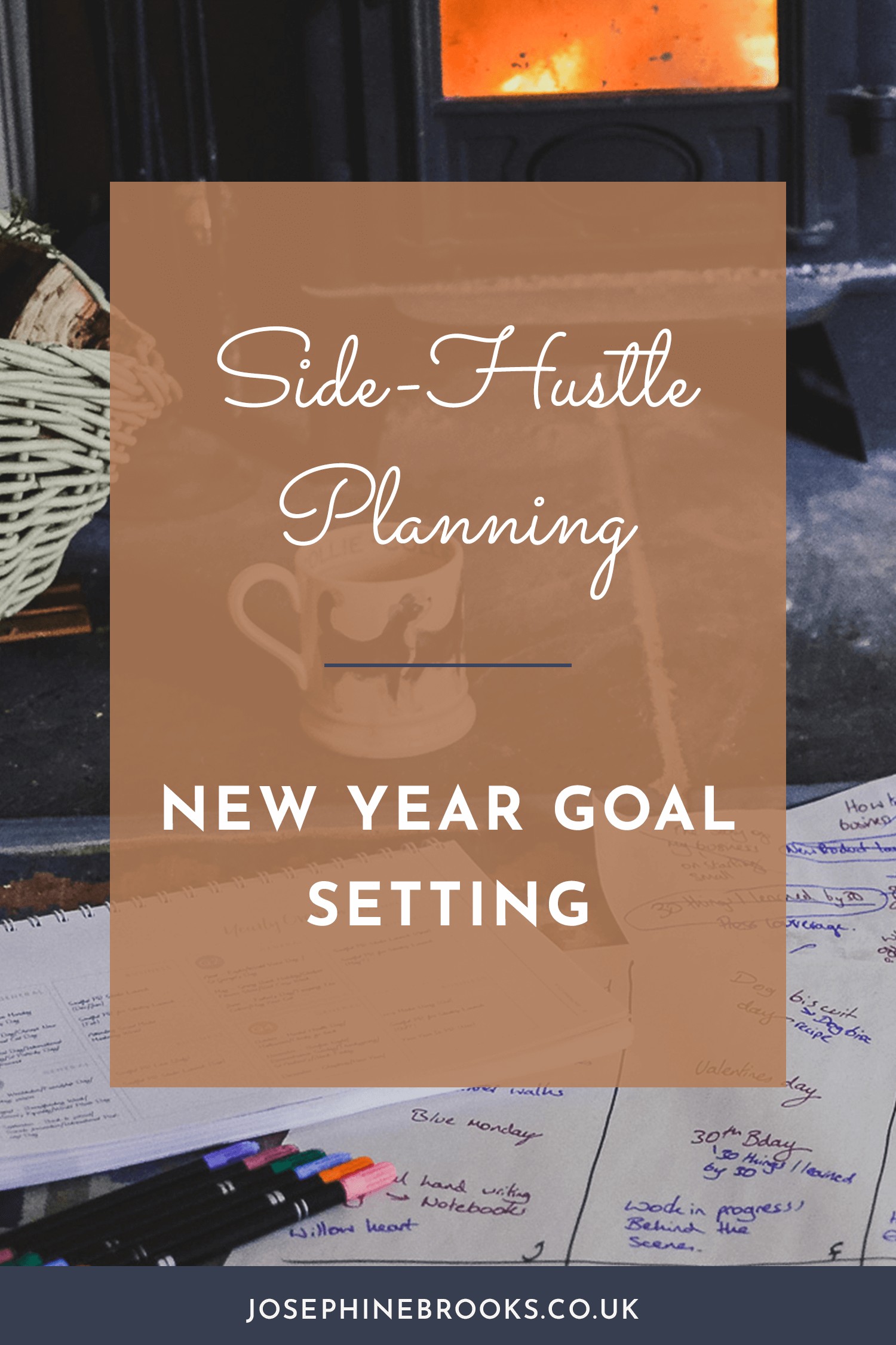 Goal Setting in your side-hustle for the new year, Setting new year goals for creative business, How to set goals for handmade business | Josephine Brooks