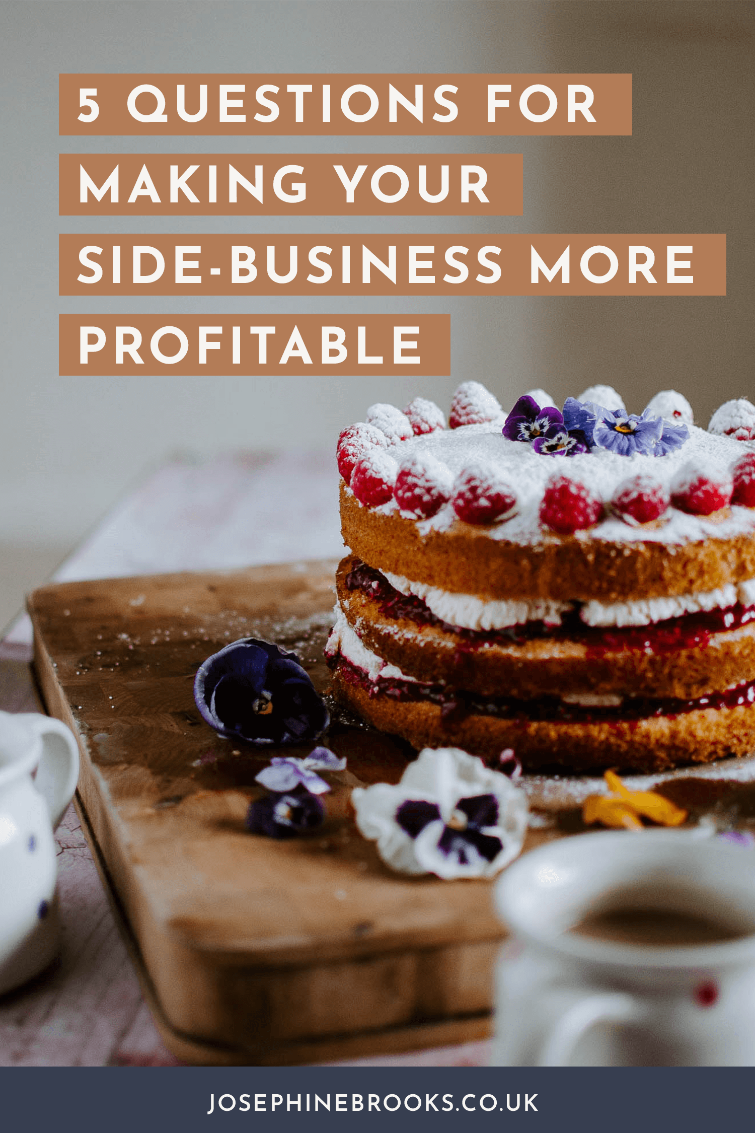 5 questions for making your side-business more profitable, How to boost business income, Increase side-hustle profit, How to make your product line more profitable, Making more money in your creative business, Improve profit margin, Profitability tips for maker business | Josephine Brooks