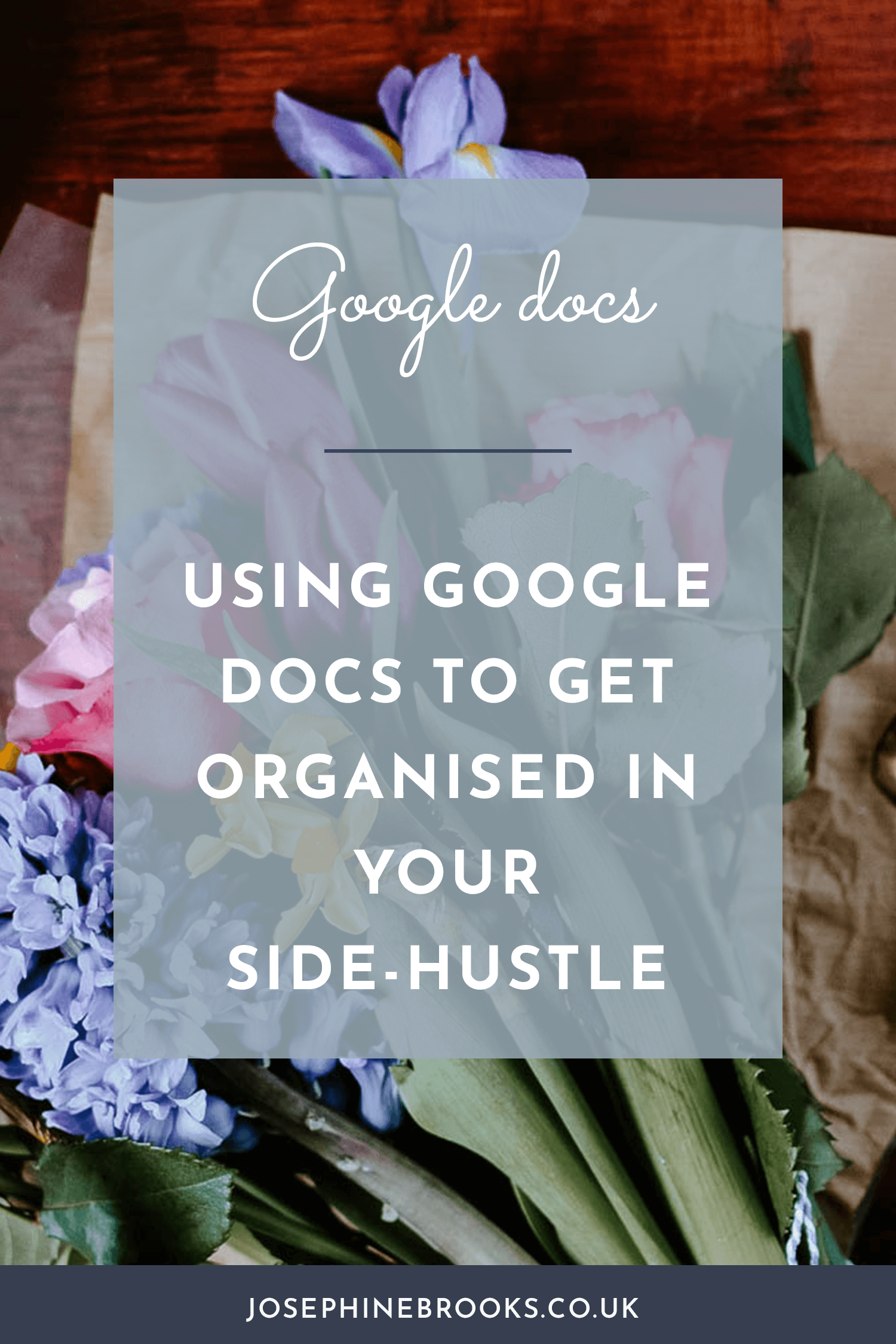Using google docs to get organised in your side-hustle, How to use google docs for your side hustle, Organising a side-hustle using google docs, Time management tips for side-hustlers   Josephine Brooks
