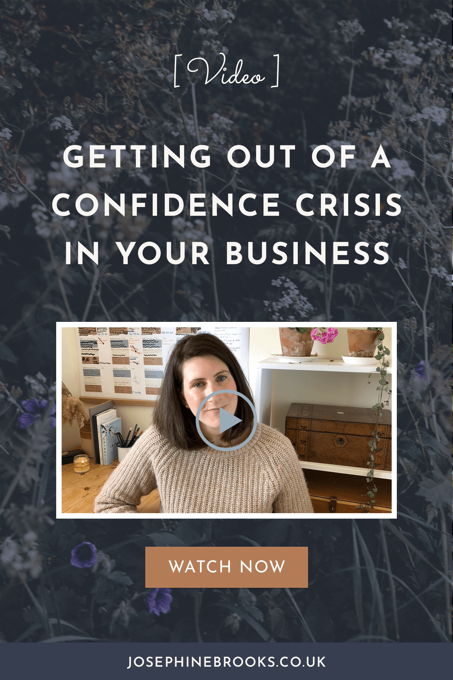 Getting Out of a Confidence Crisis in Your Side-Hustle - Video | Josephine Brooks