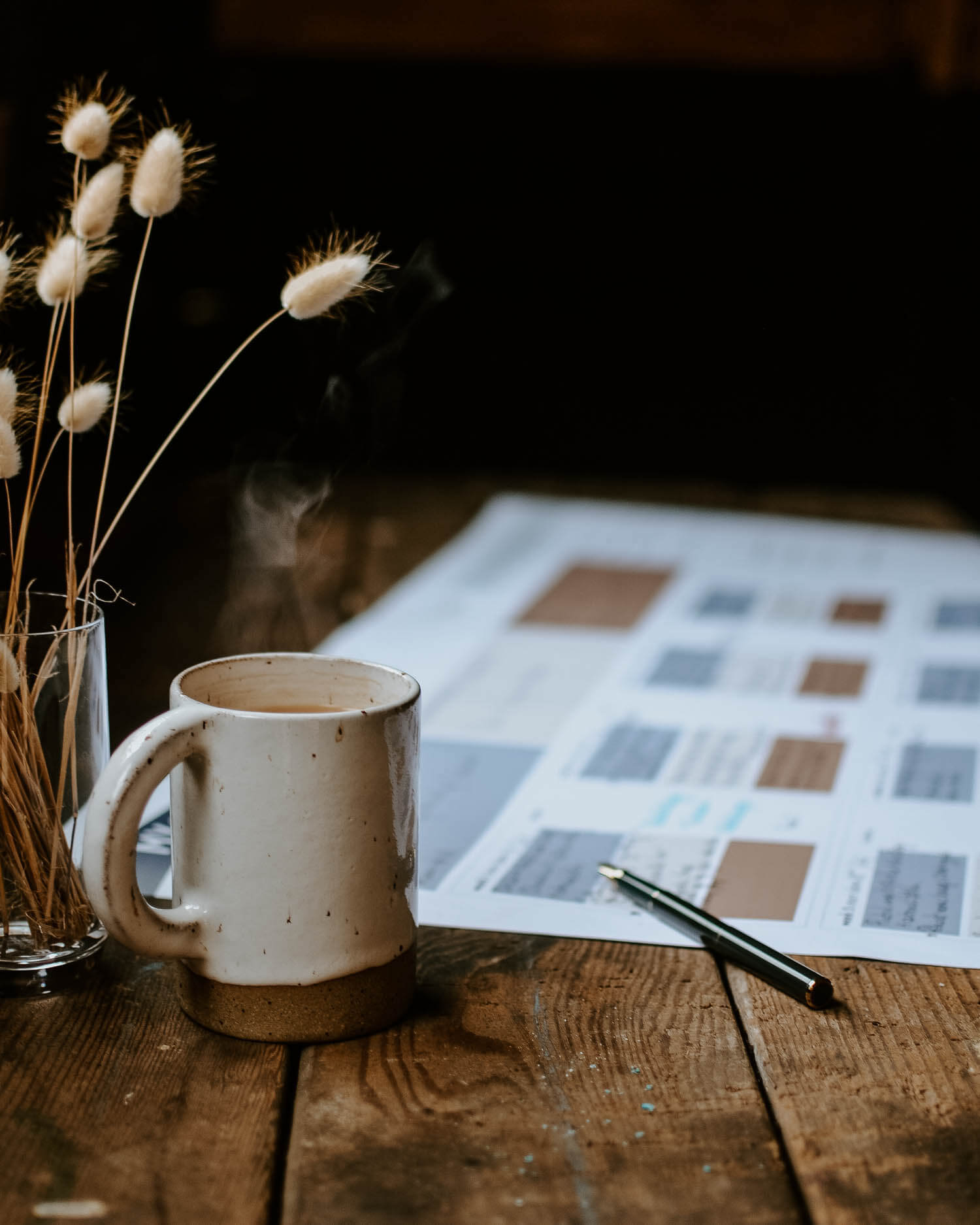 Creating a 12-week plan with my 12-week planning template on a rustic wooden table | Josephine Brooks