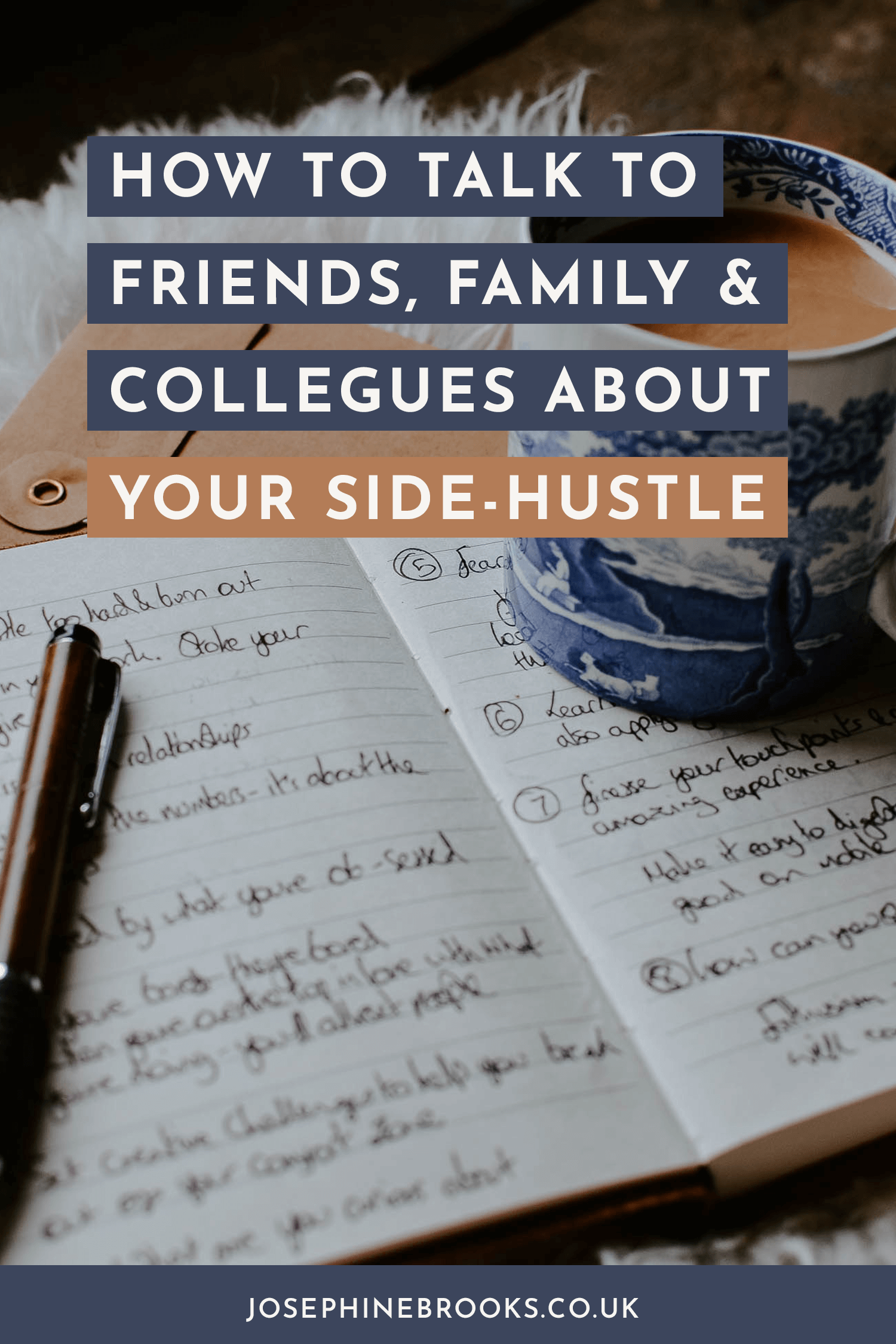 How to talk to friends, family and collegues about your side-hustle , How to grow my side-hustle, How to market my side hustle, Making a marketing plan for my side hustle | Josephine Brooks