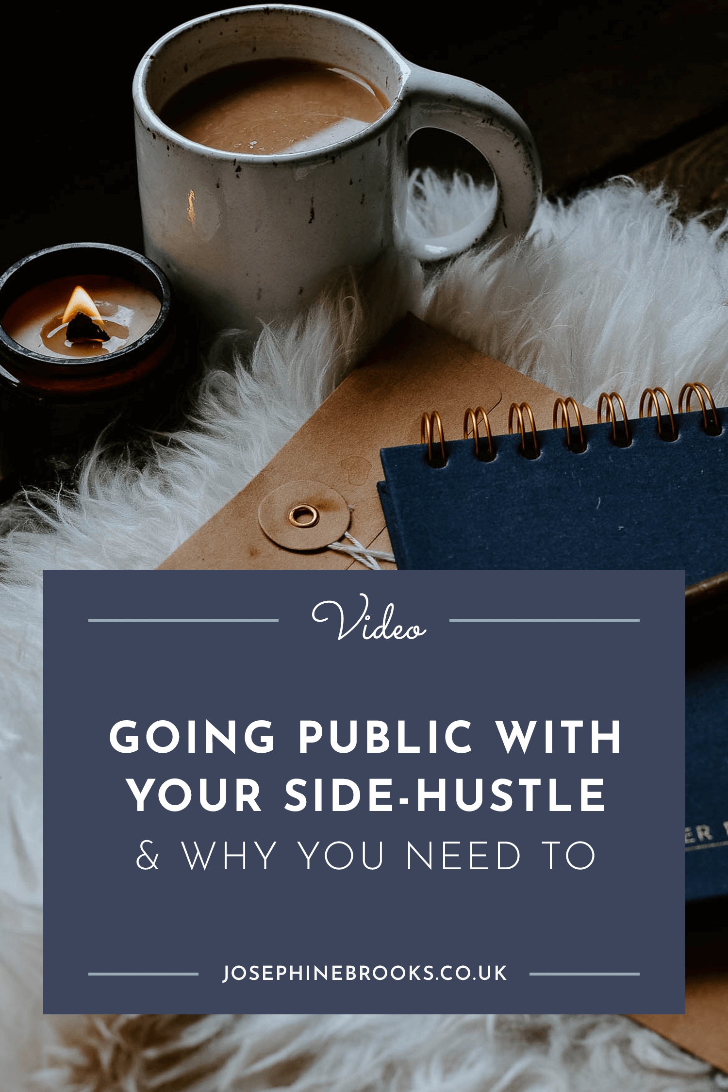 Going public with your side-hustle & why you need to, how to grow my side hustle | Josephine Brooks