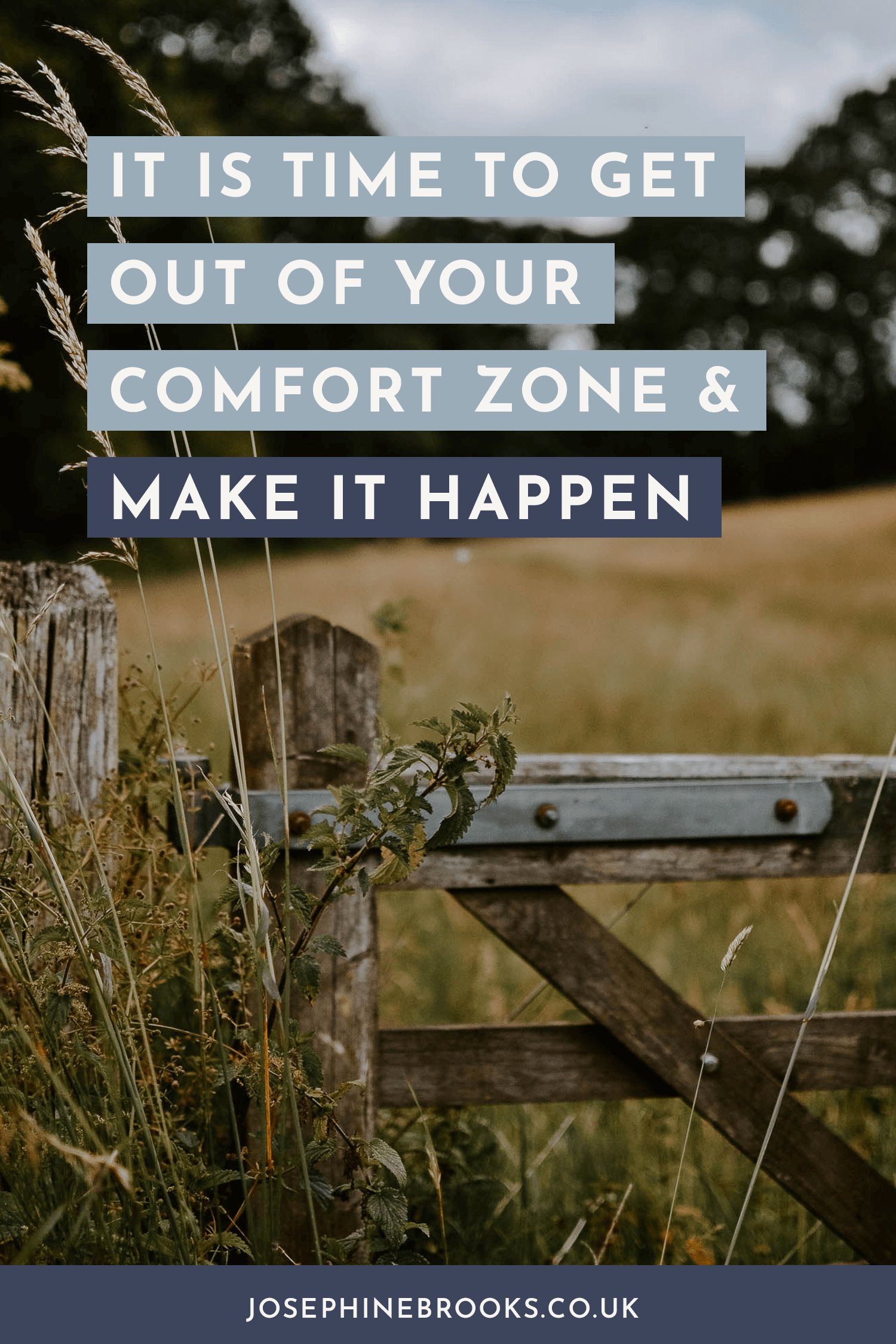 It is time to get out of your comfort zone and make it happen, how to grow my side-hustle, How to market my side business - Josephine Brooks