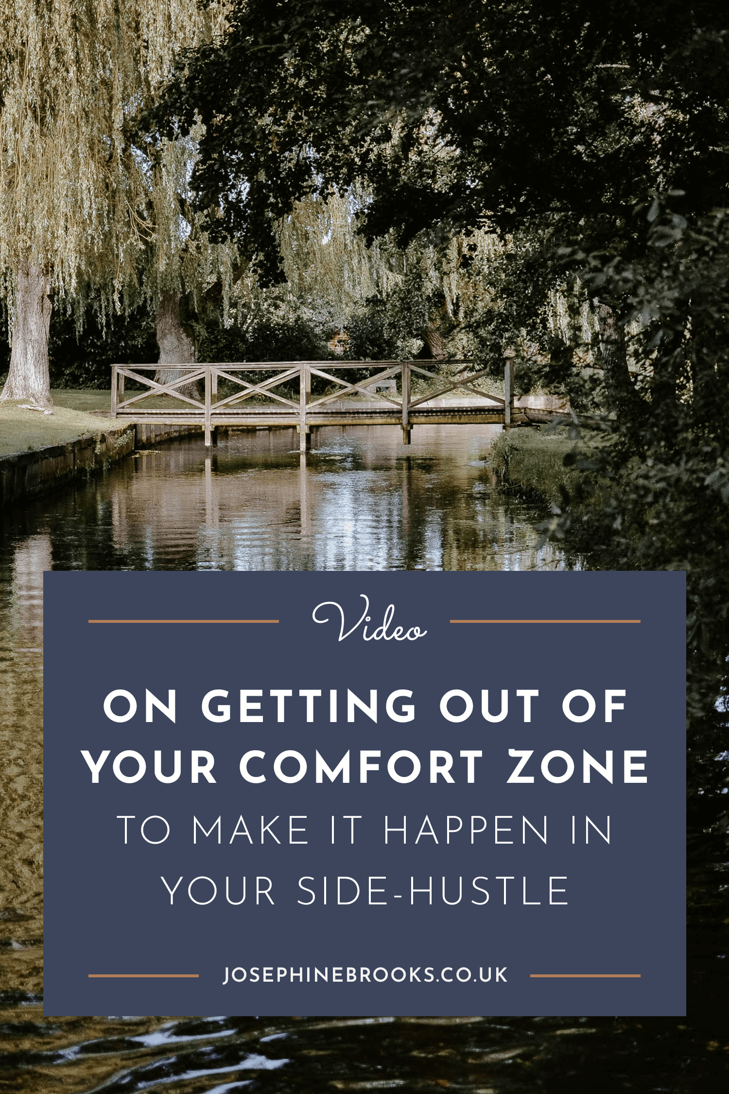On getting outside of your comfort zone to make it happen in your side hustle | Josephine Brooks
