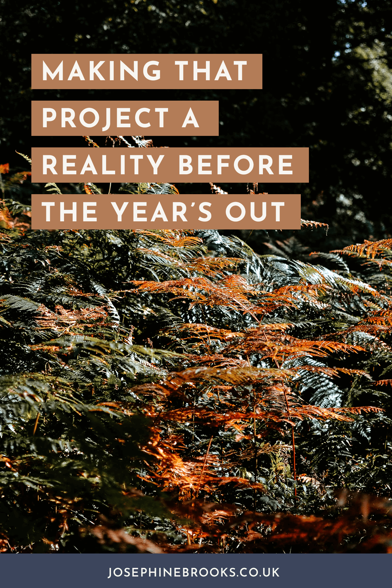 Making that project a reality before the year's out - Making a Start on your next project   Josephine Brooks