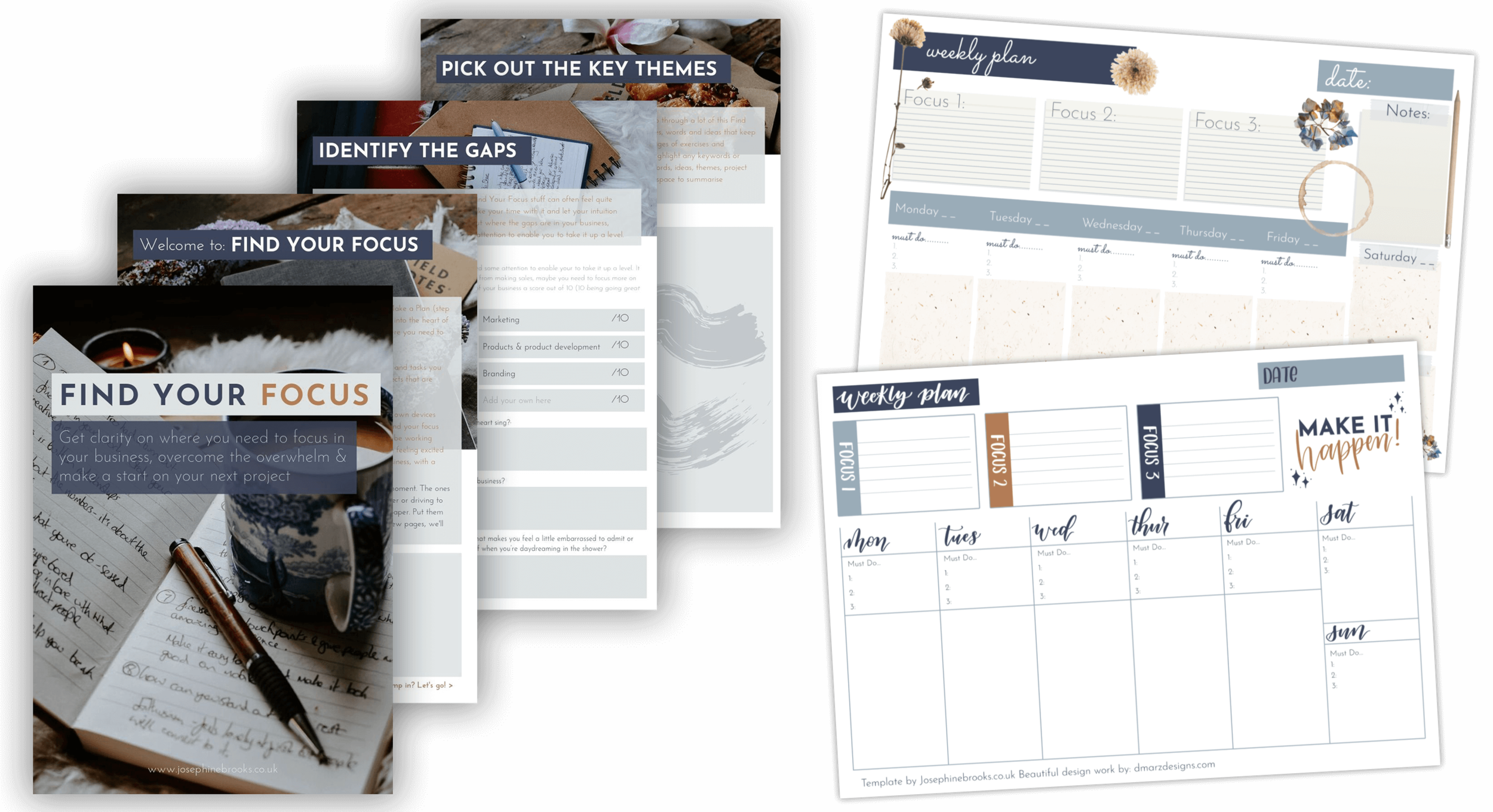 Find Your Focus - Find clarity, overcome the overwhelm and feel that excitement again for your side-hustle   A workbook from Josephine Brooks