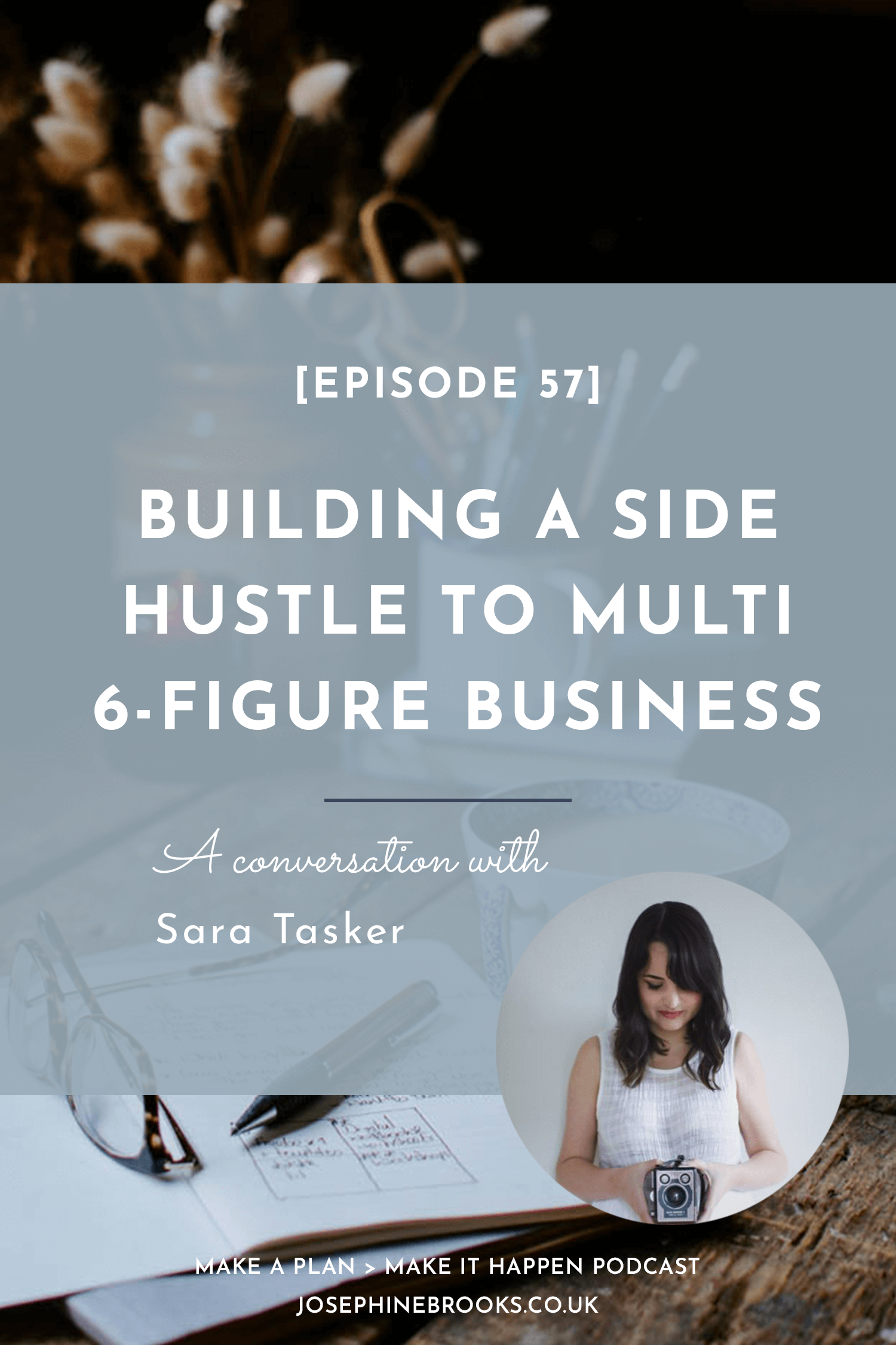 Building a Side-Hustle to Multi 6-figure business - Sara Tasker on Make a Plan Make it Happen podcast with Josephine Brooks