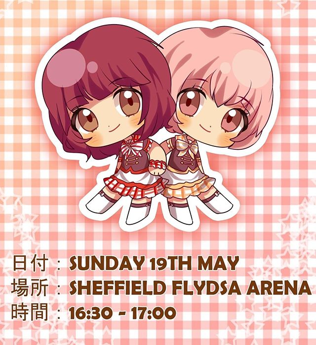 You can catch us on stage at @yorkshirecosplaycon this weekend! Sunday 19th May, at 16:30 - 17:00! It's our first time in Sheffield, so please give us a big welcome ❤️🧡 (poster art: wanipurin @ Twitter)