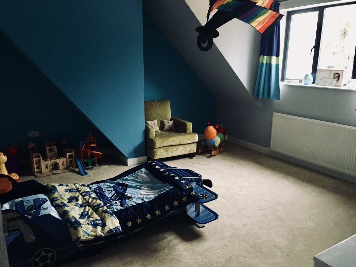 Alternative angle of the completed children's bedroom for a eco home In West Sussex
