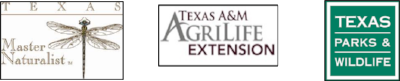 Links to :  Texas Master Naturalist  -  Texas A&M AgriLife Extension   Texas Parks and Wildlife Department