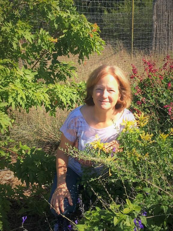 Susan in her pollinator garden