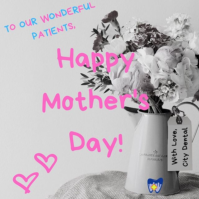 Happy Mother's Day!! 💐 Don't let a tooth problem get in your way...City Dental is open today from 2-7pm for all of your dental needs! To reach us, call 803-764-3320. Have a wonderful day!! • • • #westcolumbia #westcolumbiasc #universityofsouthcarolina #columbiasc #lexingtonsc #lexingtonmedicalcenter #palmettohealthrichland #urgentcare #toothache #weekenddentist #emergencydentist #emergencydental #loveyoursmile #wecanhelp #lakemurraysc #lakemurray #becauselifeisbusy