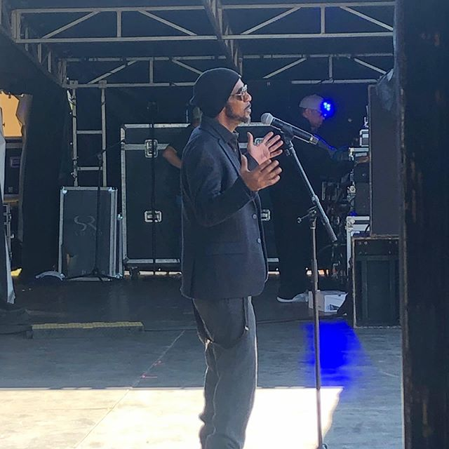 Ralph Tresvant sound check this morning....such a nice guy.  Goes on at 7 on the main stage. Come out and enjoy this beautiful day at the Arkansas State Fair! @arkansasstatefair @therealralphtresvant