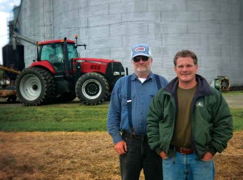 HERMAN HILL, JR. (LEFT) AND TREY HILL (RIGHT). PHOTO CREDIT: CASE-IH
