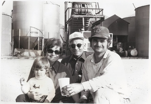 PICTURED LEFT TO RIGHT:  CHRISTINE HILL (HERMAN, JR.'S WIFE), HERMAN HILL, SR., AND HERMAN HILL, JR.