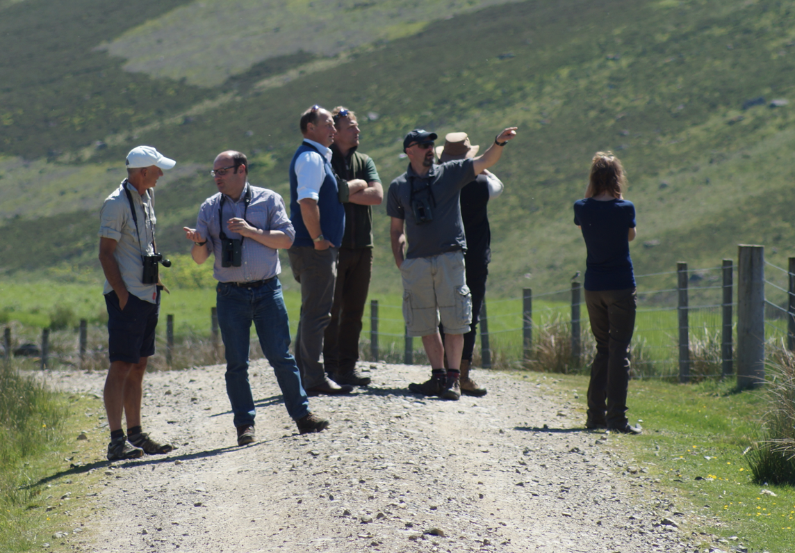 Some of the Working for Waders group at Glen Prosen