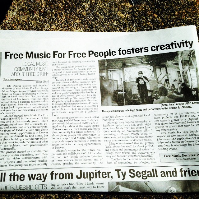 Oh my!!! #FM4FP is in the UCD Advocate Newspaper!!! Such a big set in our history!! Thanks UCD!! #Advocate #OpenMic