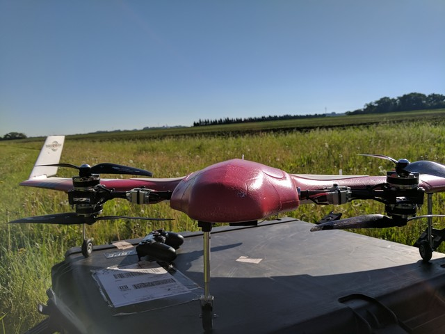 Botlink also tested a fixed-wing drone capable of vertical takeoff and landing (VTOL).