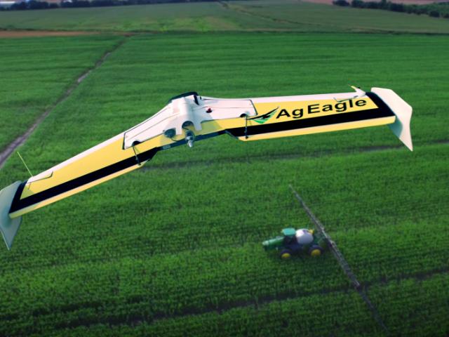AgEagle fixed-wing drones come standard with Sentera NIR sensors.