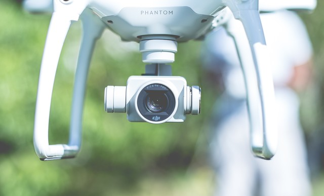 Most widely available consumer drones like the DJI™ Phantom come equipped with standard RGB cameras.