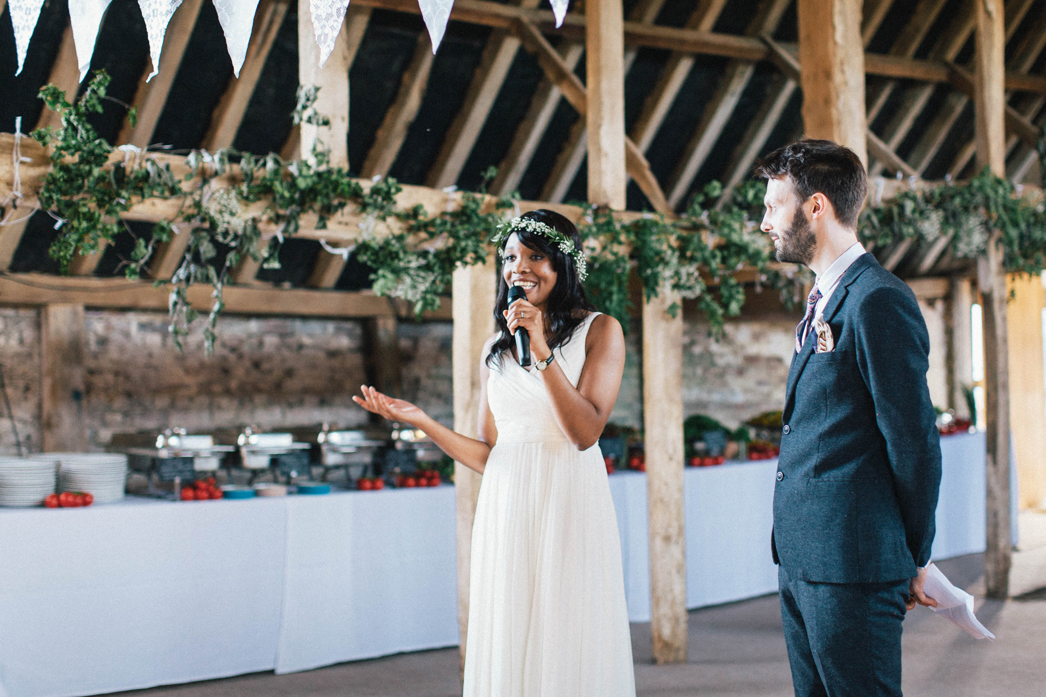Sussex Barn wedding with a marriage on Dyke Road Brighton and reception at Sussex Barn, Hellingly. Wedding photography by Brighton Photographer Emma Lucy