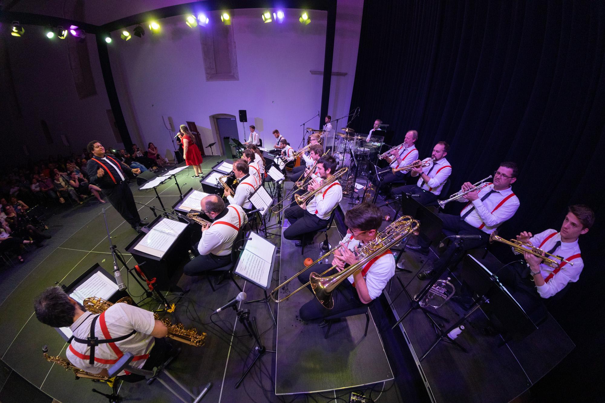 En big band - En big band, ki je bil ustanovljen spomladi leta 2014, skuša z glasbenim upodabljanjem različnih žanrov približati »živo« big bandovsko in drugo glasbo širši javnosti.Člani so tako uveljavljeni profesionalni glasbeniki, kot šolani ljubitelji glasbe, ki so svojo glasbeno izobraževanje pričeli v Kopru oziroma v eni od podružnic.Skupina v polni zasedbi šteje 24 izvajalcev, vsak posameznik pa predstavlja nepogrešljiv člen v celotni zvočni sliki predstave.od 20.30 do 22.15
