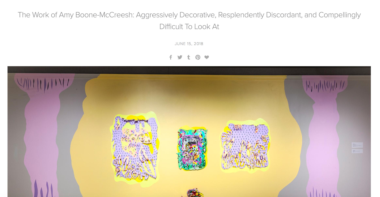 Artist Feature on Liz Miller's blog -