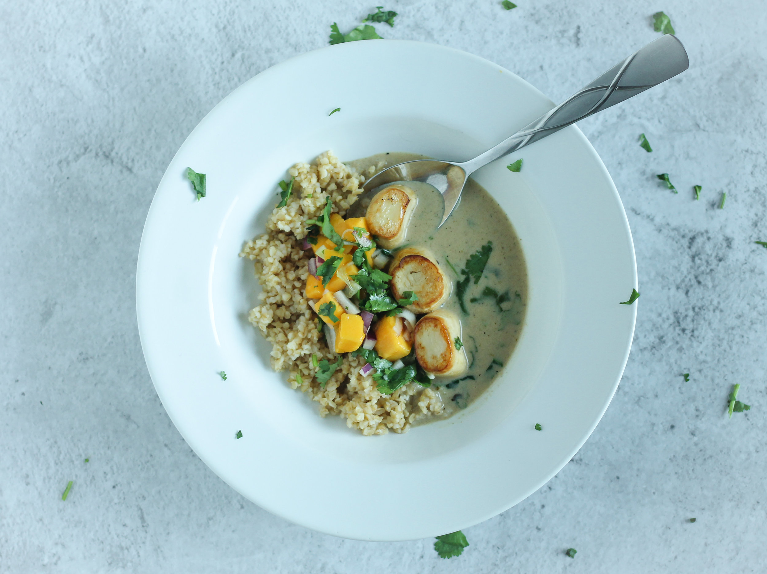 Coconut Curry Scallops