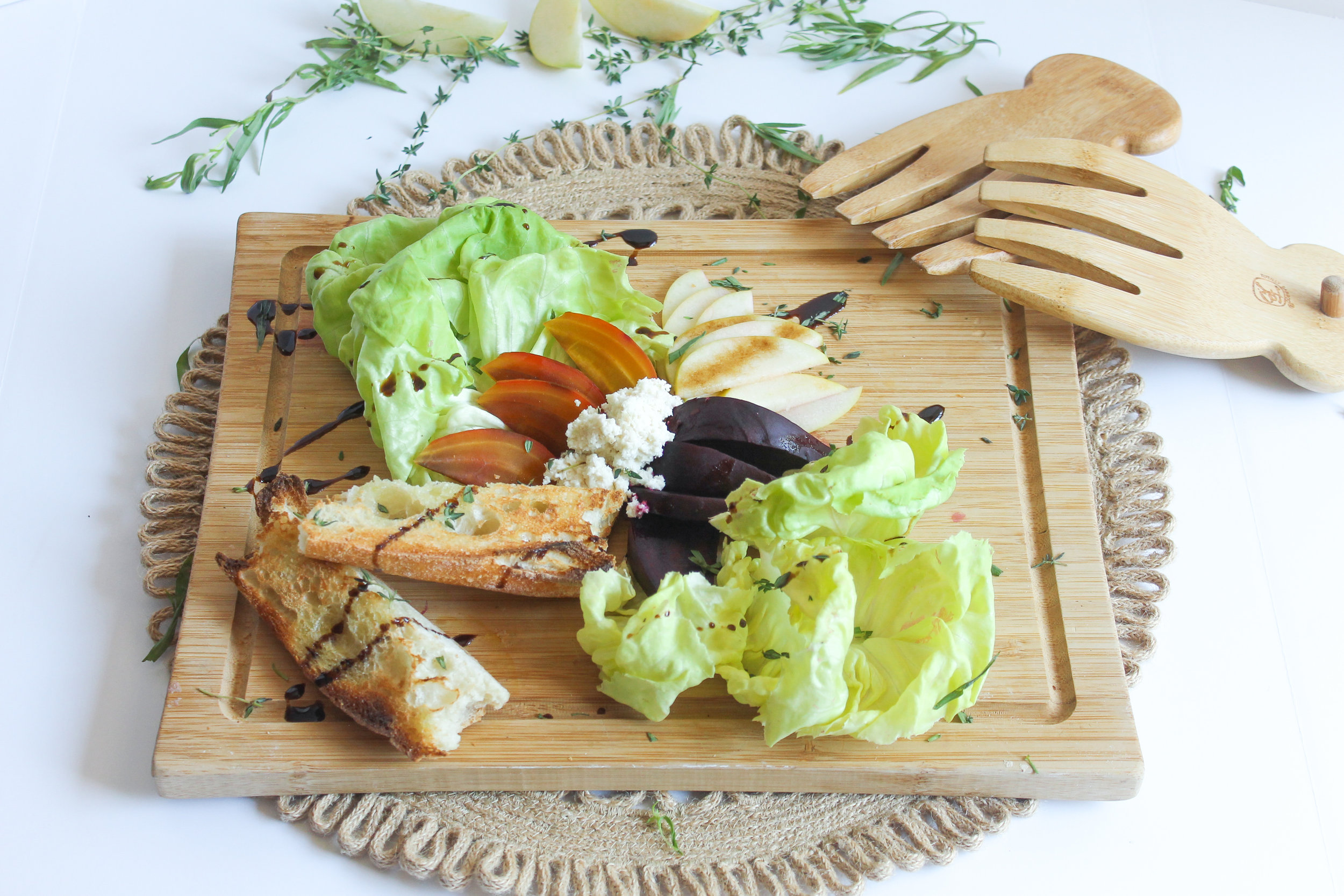 Baby Beet Salad with Rosemary Bread