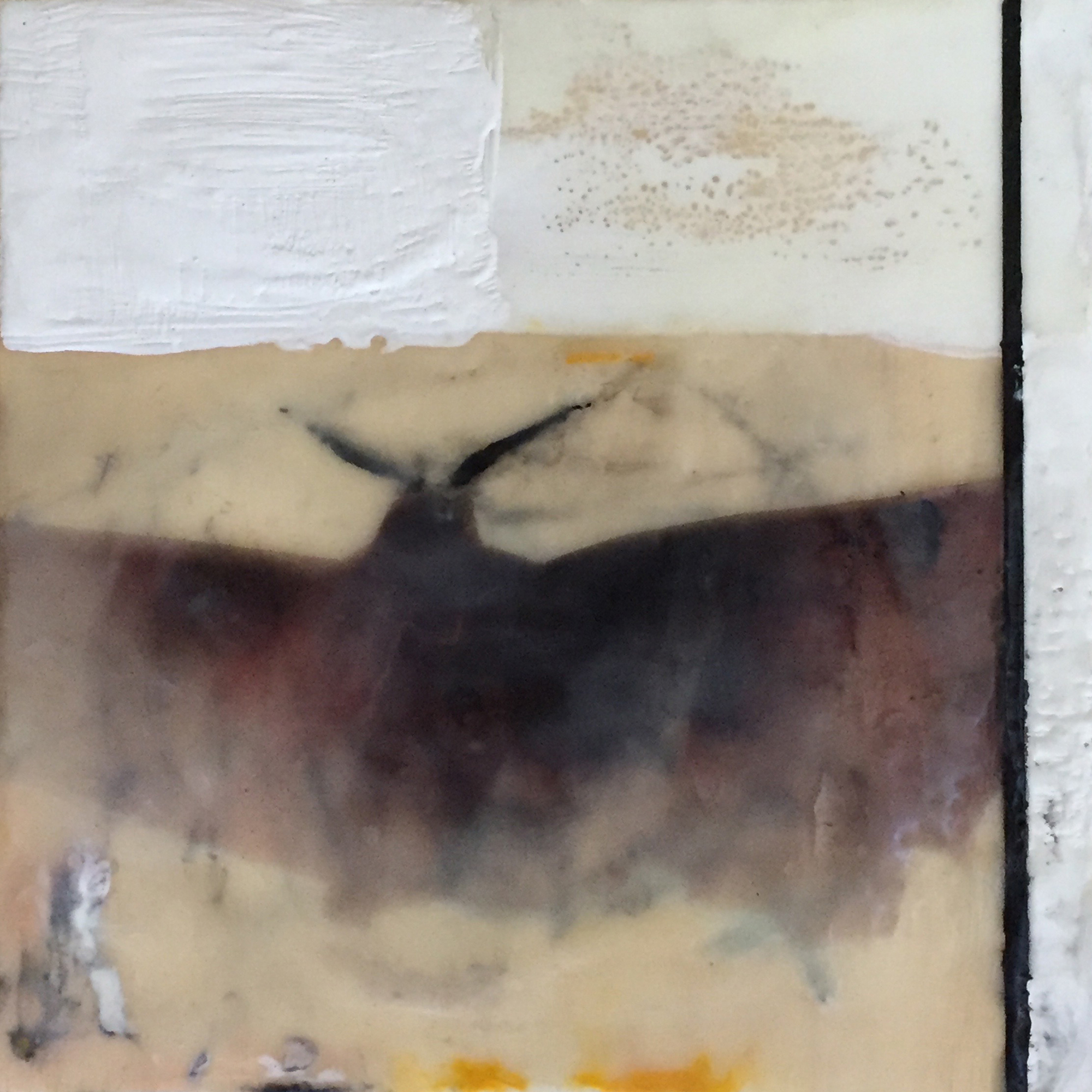 "UNKNOWN   "" x "" | oil, charcoal,encaustic"