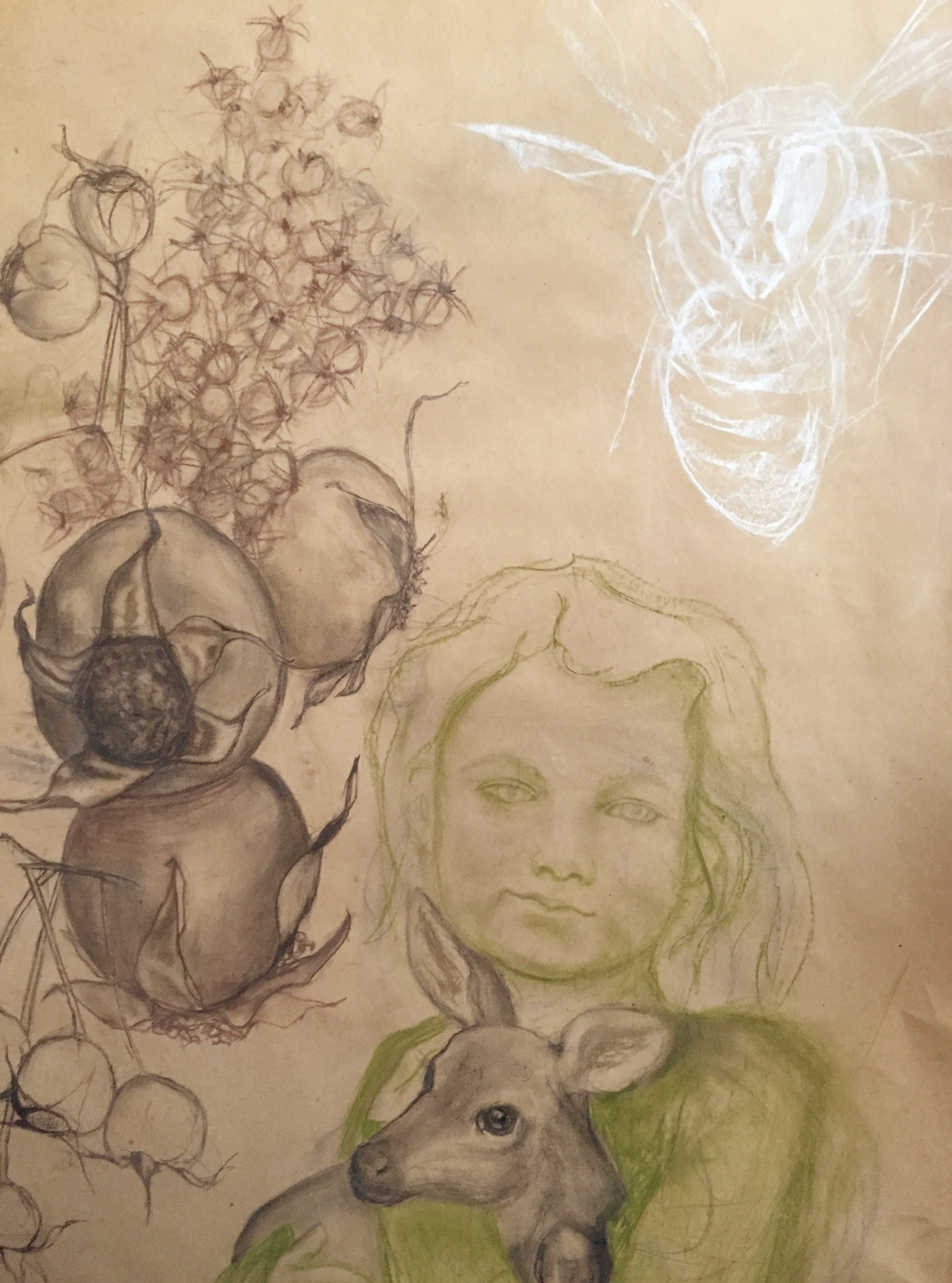 "RoseHips [DETAIL]  - 74"" x 36"" 