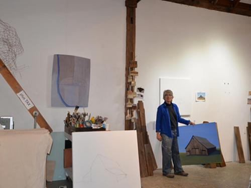 Rebecca Johnson in her studio
