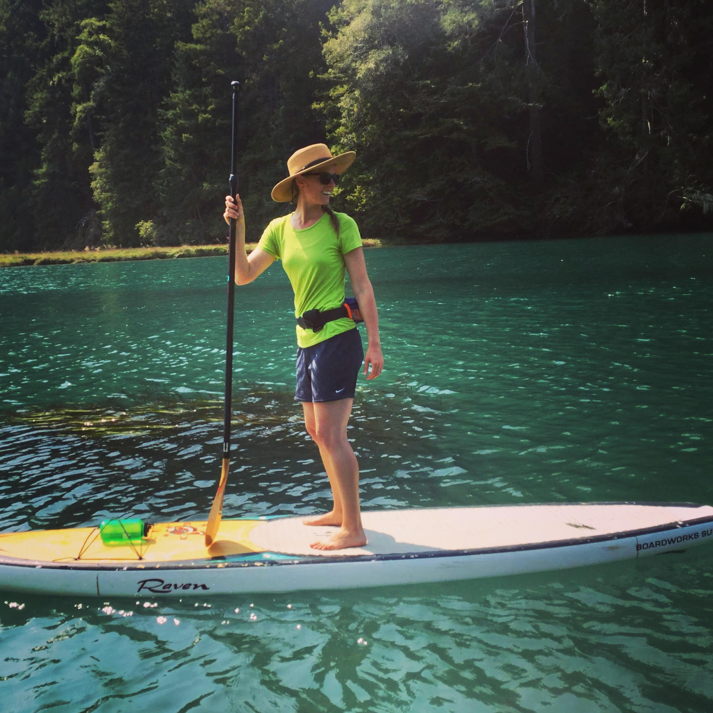Stand up paddle boarding on Big River