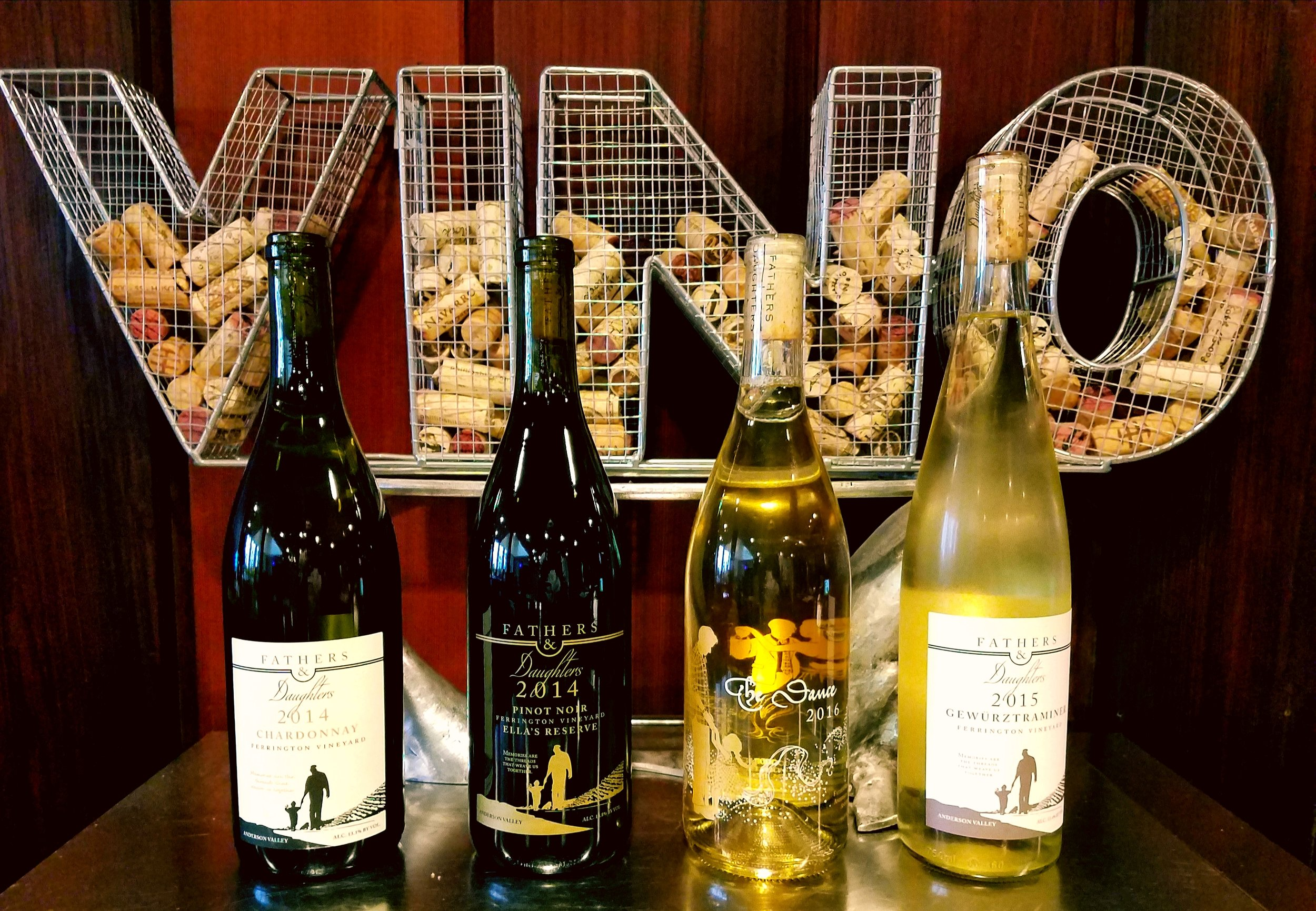 A few of our wines