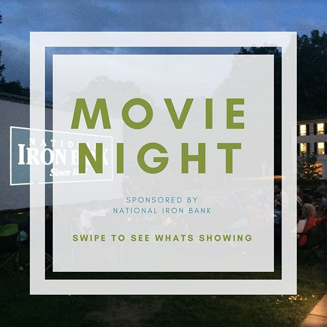 "Outdoor Movie Night...Oh yes! It's cooling off and the screen is going up. ""The King's Speech"" see you @thejudyblackparkandgardens"