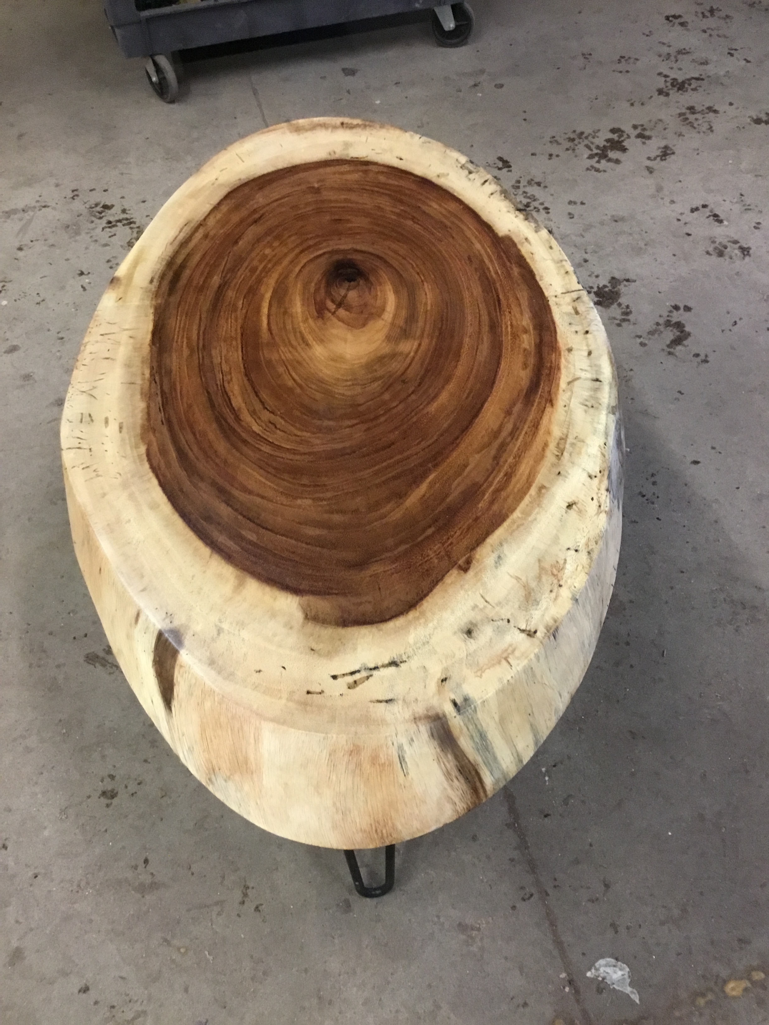 Finished Parotta Oval With Legs - $600