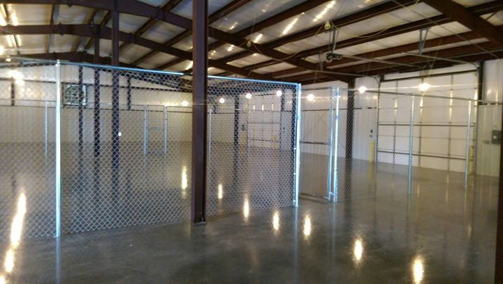indoor warehouse chainlink fence