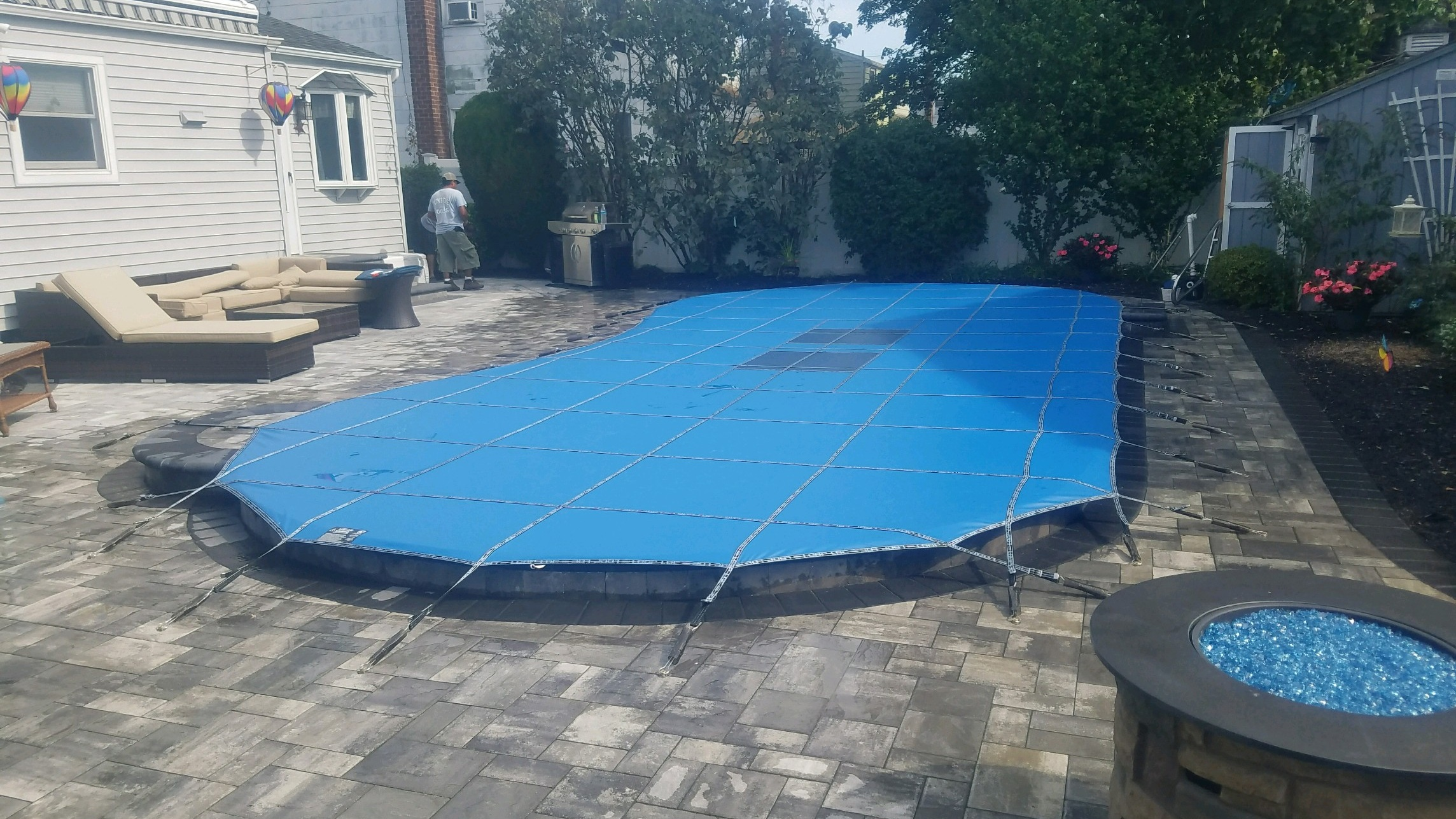 Blue Ultra Loc Solid with Drain Panels