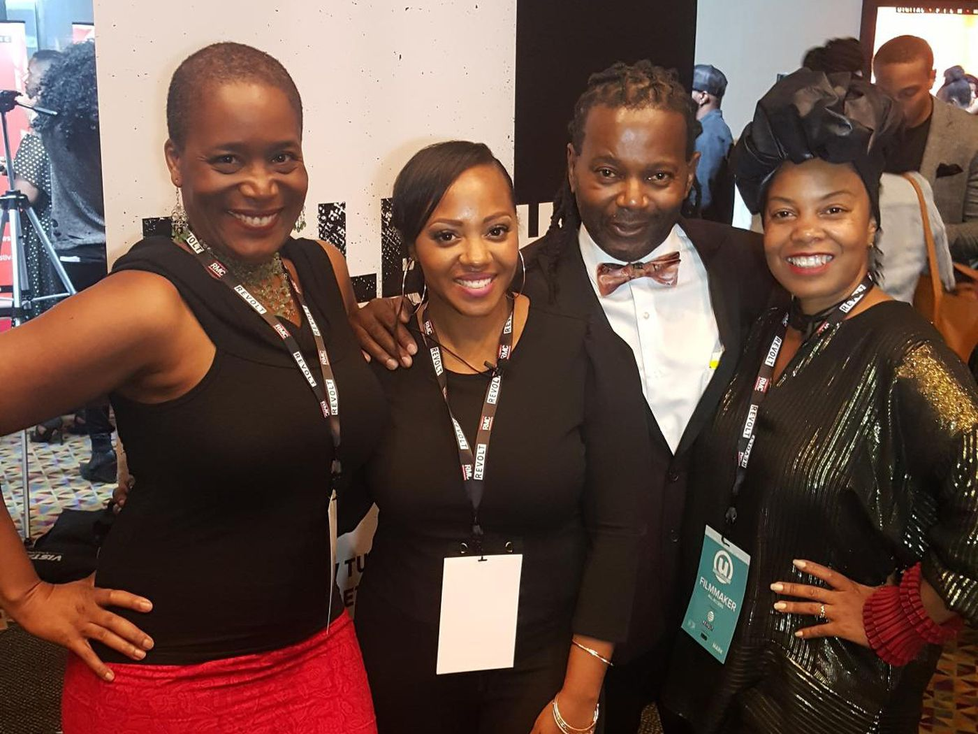 """Cast of """"The Bill"""" at Urban World Film Fest 2017: (from left to right) Tanyika Carey, Perri Camper, Perry King and Crystal Whaley."""