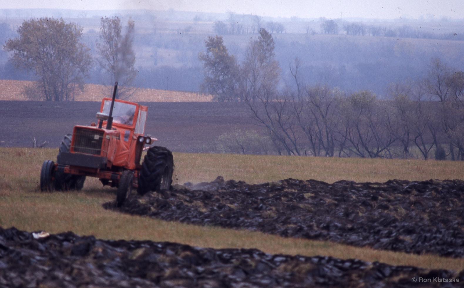 Plowing of prairie. Photo by Ron Klataske