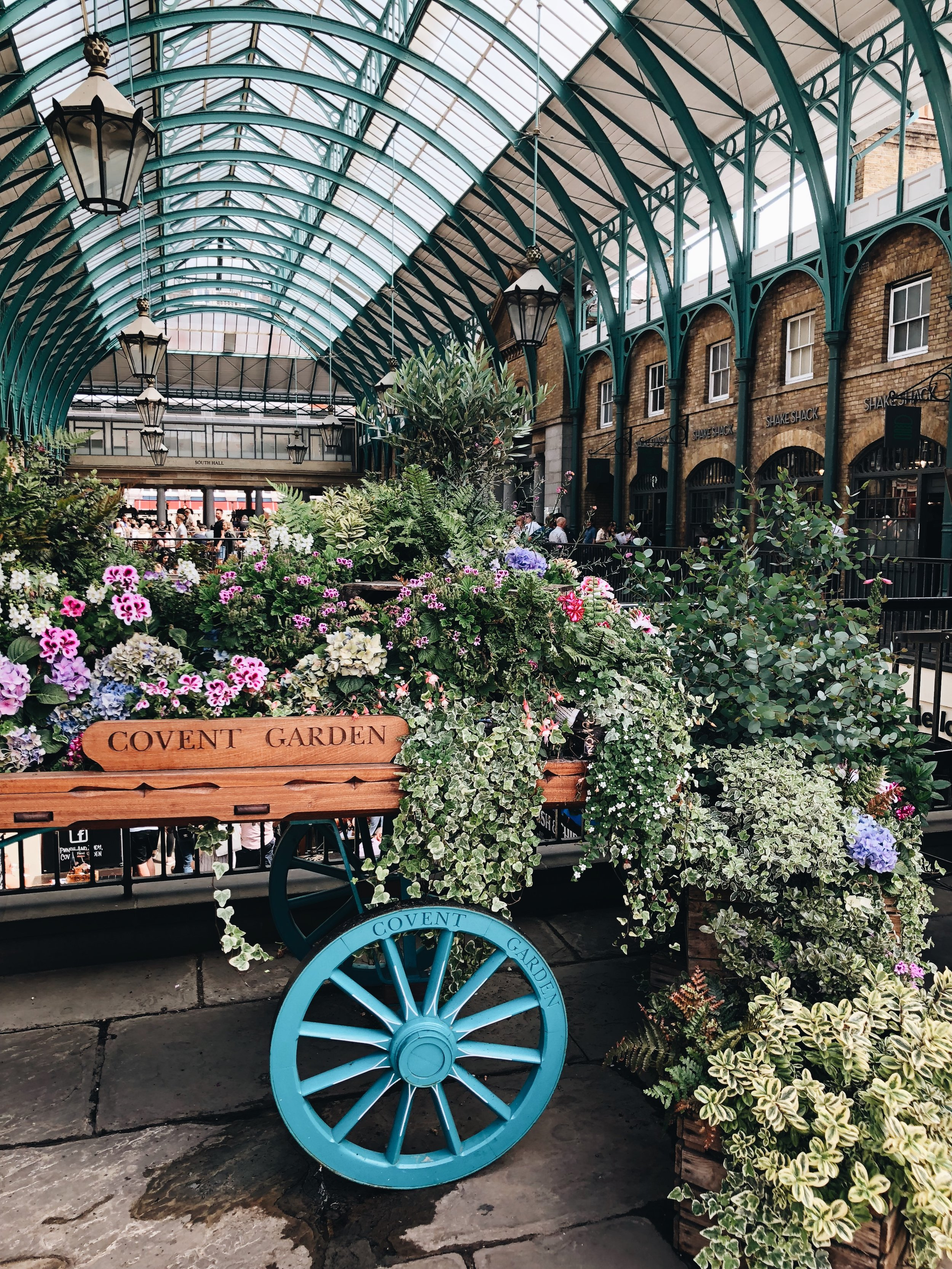 Beautiful flowers at Covent Garden